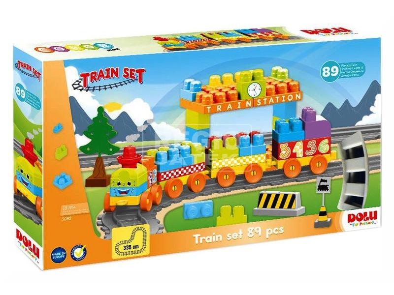 Vonat építőjáték 85 darabos készlet