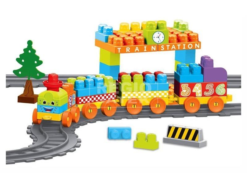 kép nagyítása Vonat építőjáték 85 darabos készlet