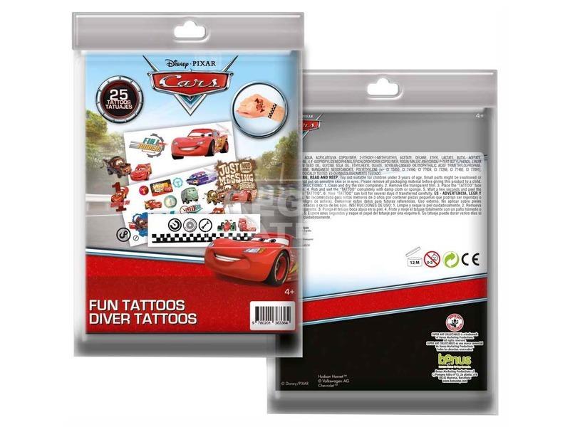 Tetováló matrica Cars