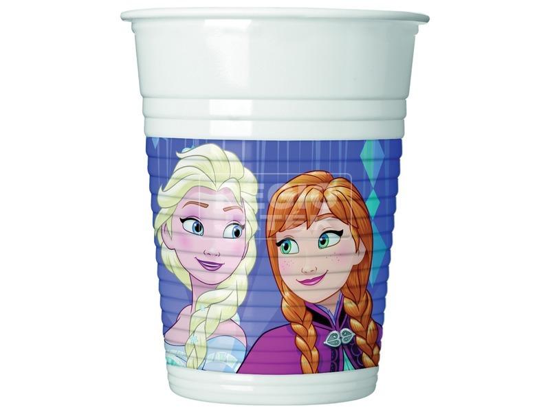Jégvarázs hópehely műanyag pohár 200 ml