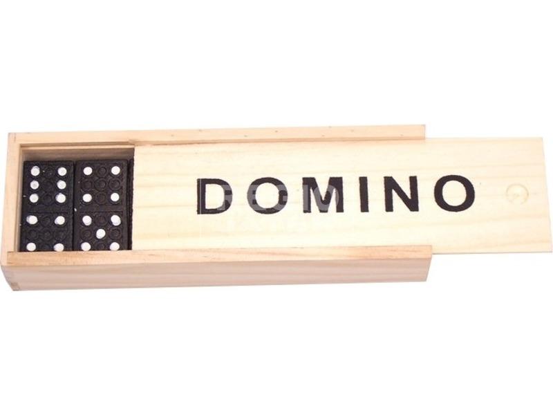 Fa dominó készlet dobozban - kicsi