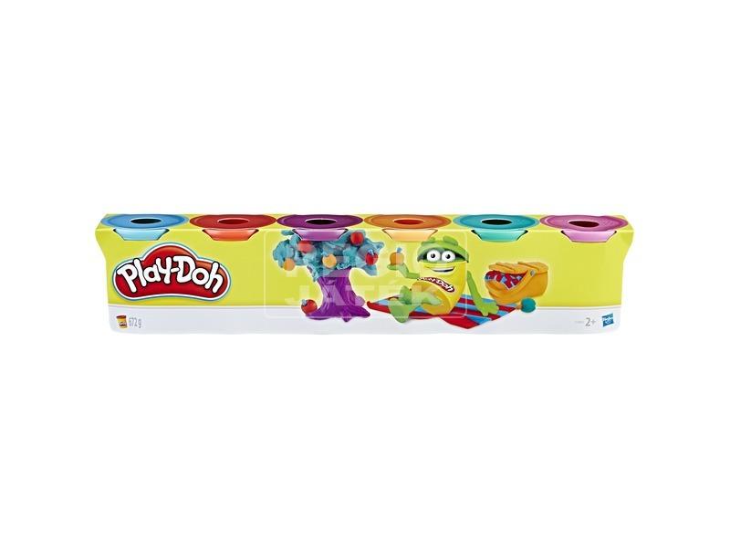Play-Doh gyurma 6 db-os csomag világos színekkel