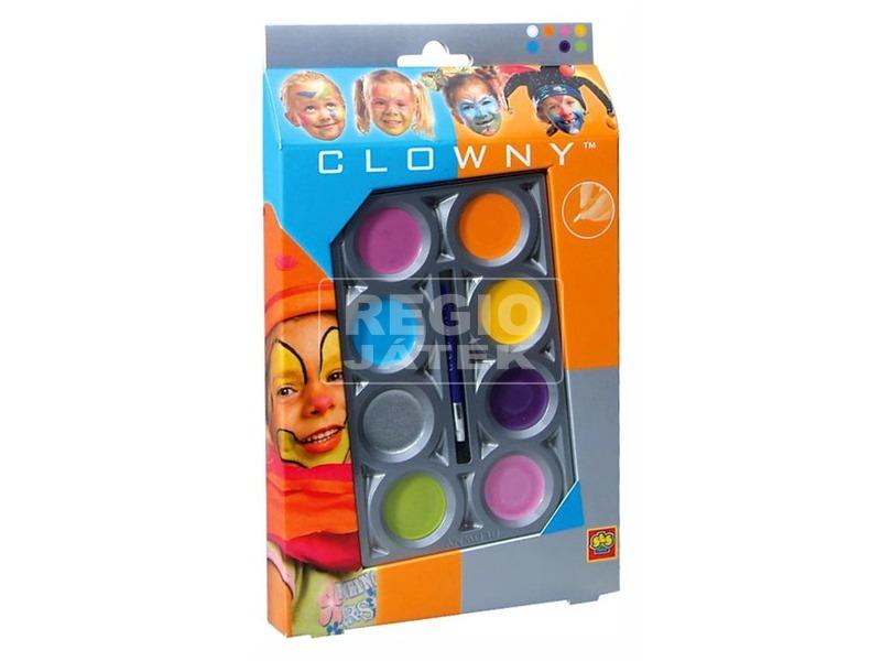 Clowny - arcfestő ceruzák 8db trendy