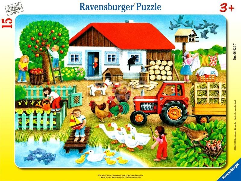Puzzle 15 db - Tanyasi élet