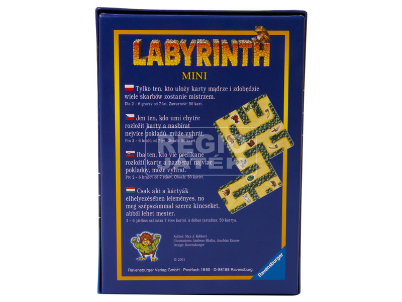 kép nagyítása Mini labirintus társasjáték