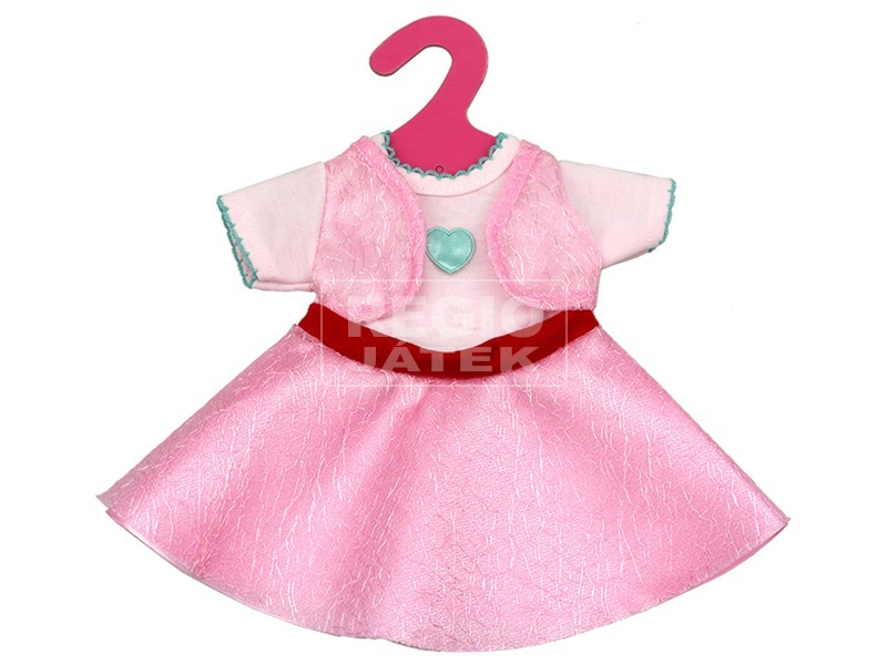 Babaruha játékbabához - rózsaszín, 41 cm