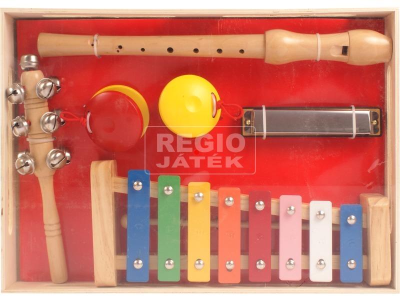 Fa hangszer készlet furulyával, xilofonnal