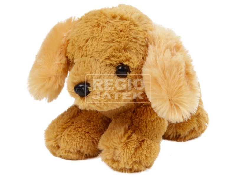 Kutya plüssfigura - barna, 25 cm