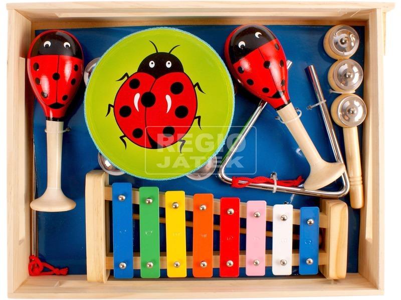 Fa hangszer készlet - közepes