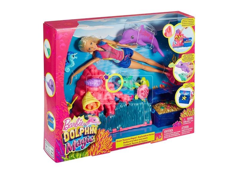 Barbie: Delfin varázs Barbie delfinnel - 29 cm
