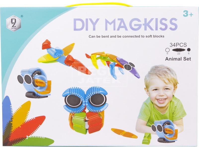 kép nagyítása Magkiss 34 darabos hajlítható mágneses építőjáték