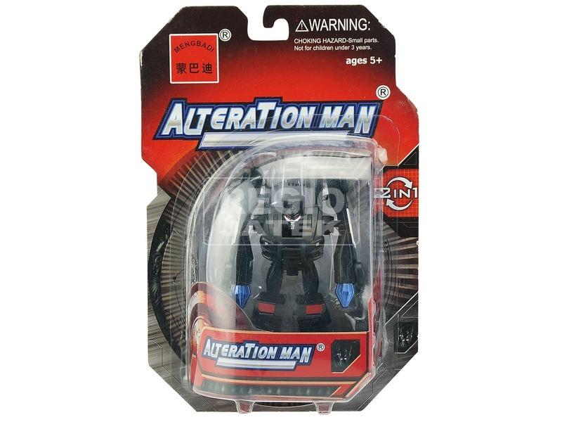 Alteration man átalakuló robot - 10 cm, fekete