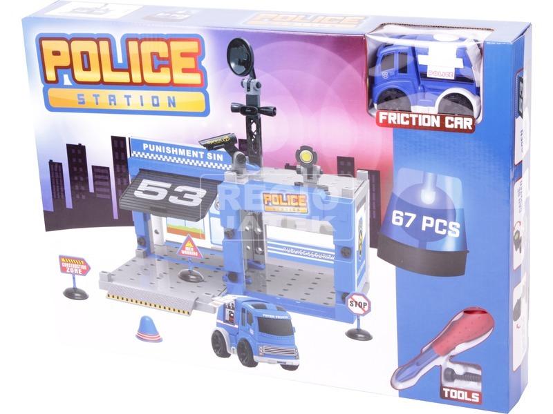 Műanyag építőjáték - Rendőrség, 67 db-os