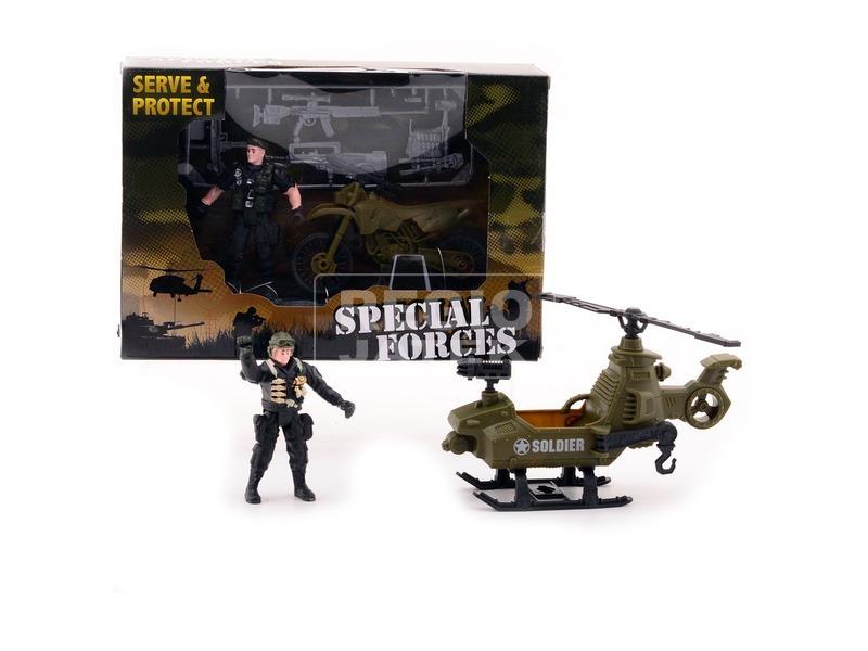 Különleges katonatiszt járművel - többféle
