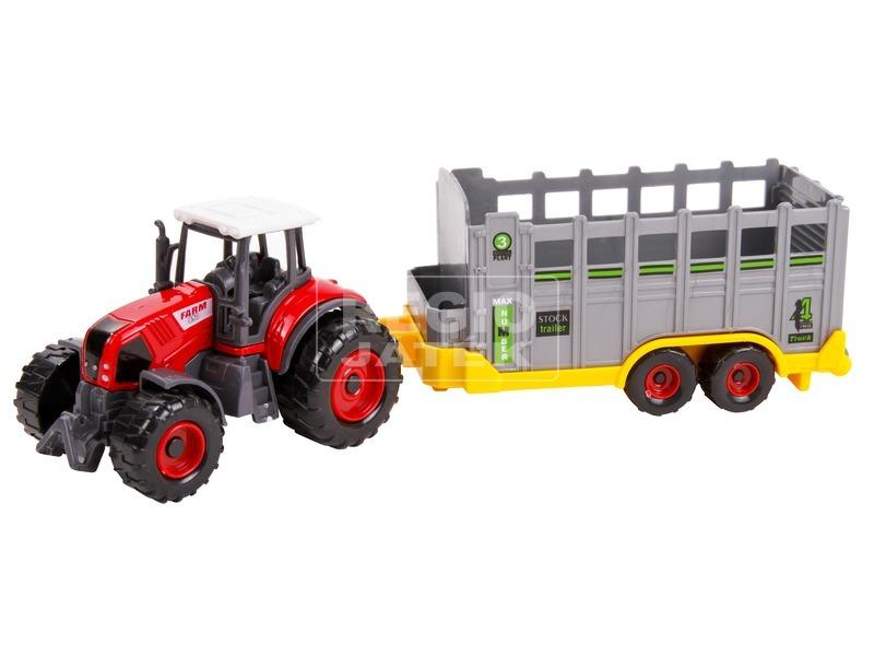 Traktoros játék szett 4 féle