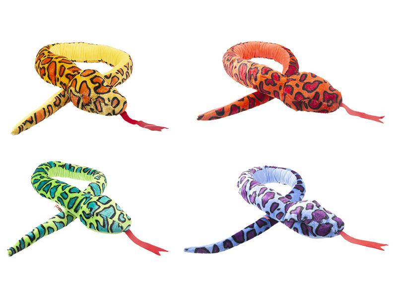 Plüss kígyó, 5 féle, 170 cm