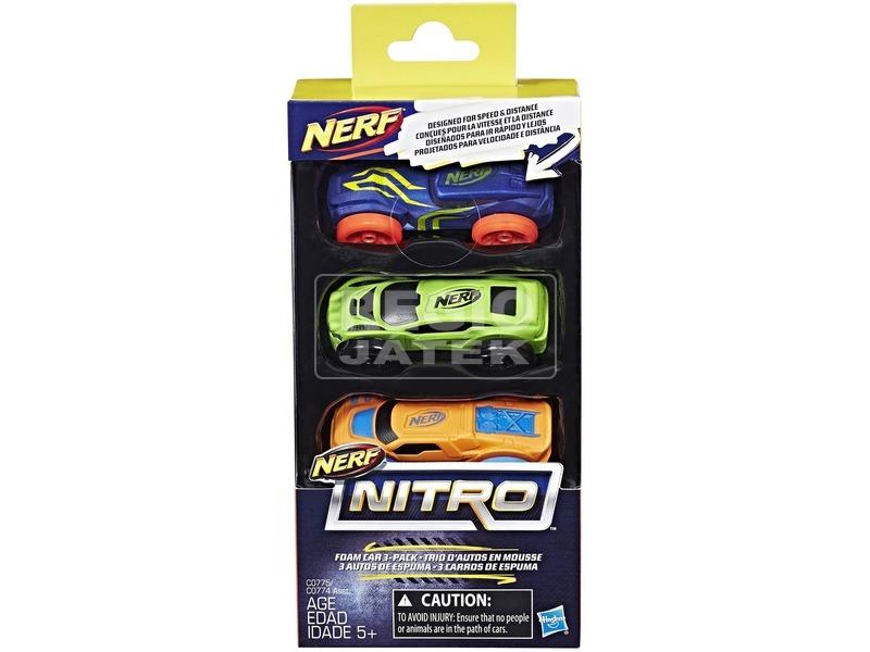 NERF Nitro kisautó utántöltő 3 darabos - többféle