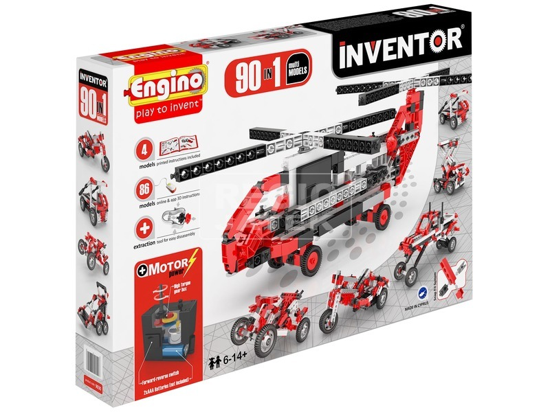Engino - INVENTOR Motorizált 90db-os multi