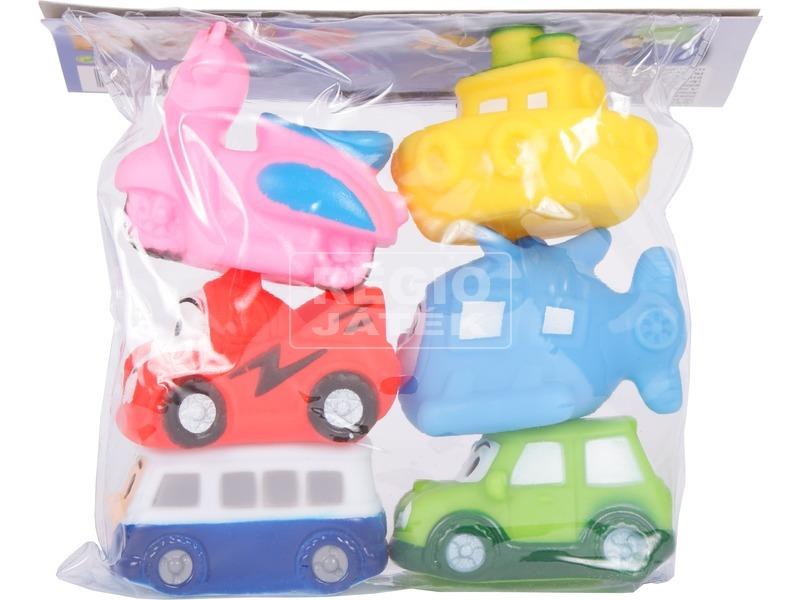 kép nagyítása Járművek 6 darabos fürdőjáték