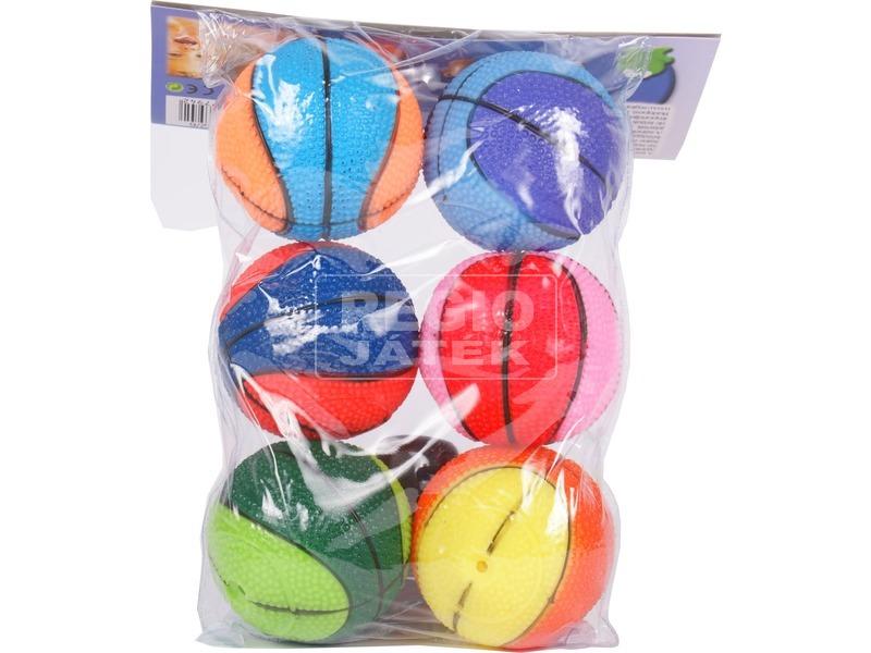 kép nagyítása Labdák 6 darabos fürdőjáték - kosárlabda mintás