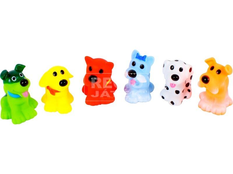 Kutyák 7 darabos fürdőjáték készlet - 7 cm