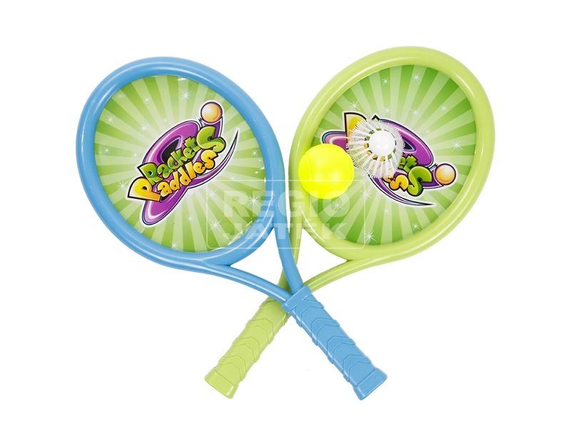 Teniszütő készlet labdákkal - 40 cm
