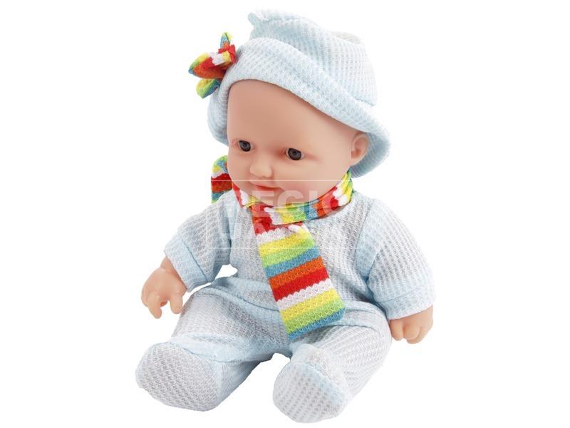 kép nagyítása Játékbaba ruhában sállal - 24 cm, többféle