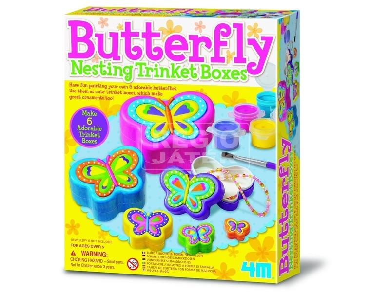 4M pillangós ékszerdoboz készlet