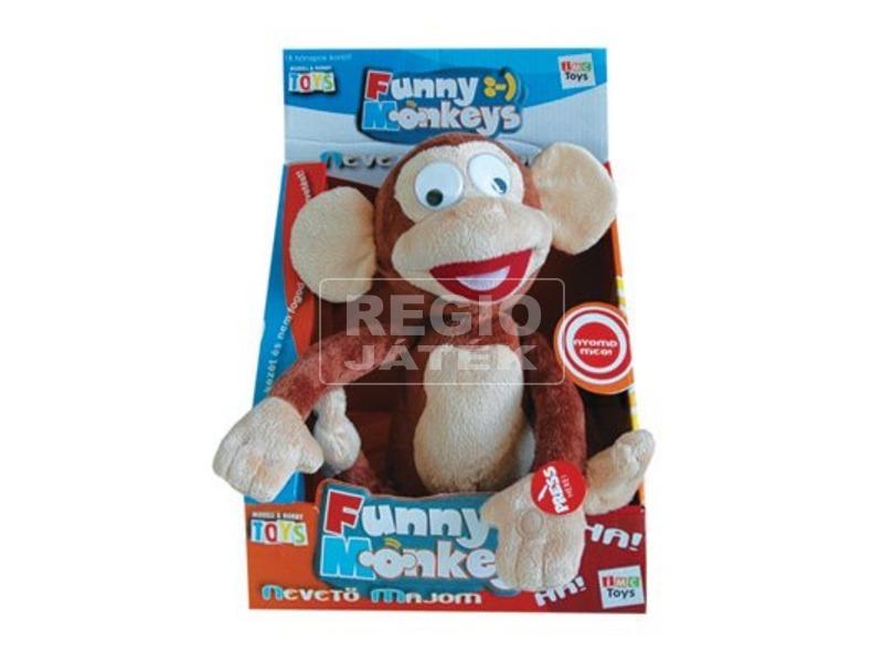 Nevető majom interaktív plüssfigura - 30 cm