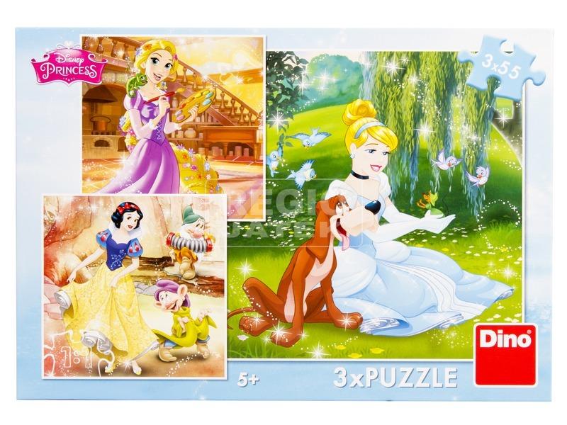kép nagyítása Disney hercegnők tánc 3 x 55 darabos puzzle