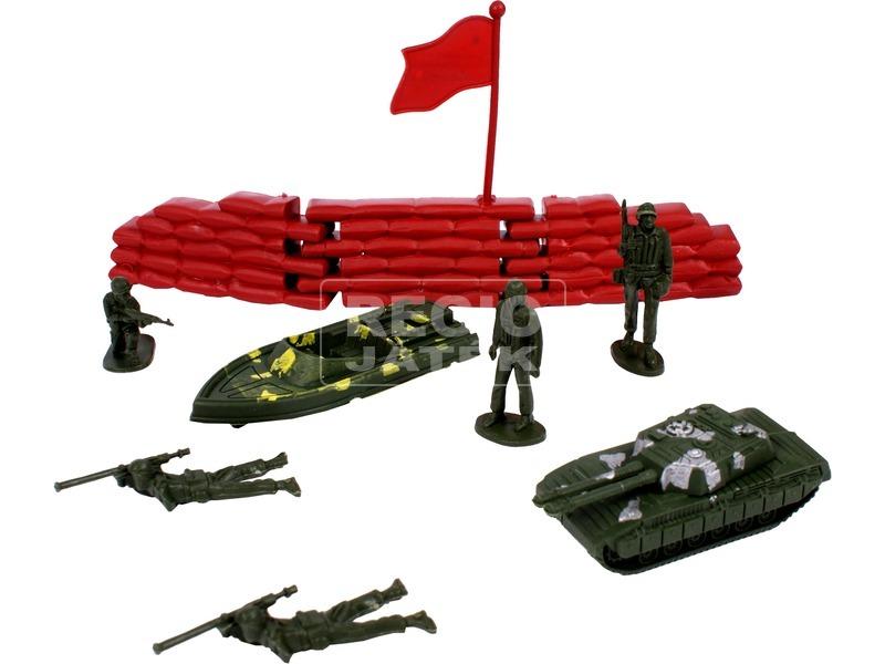 kép nagyítása Katonai 20 darabos játékkészlet hengerben