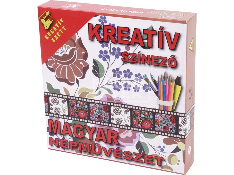 Magyar népművészet kreatív színező füzet