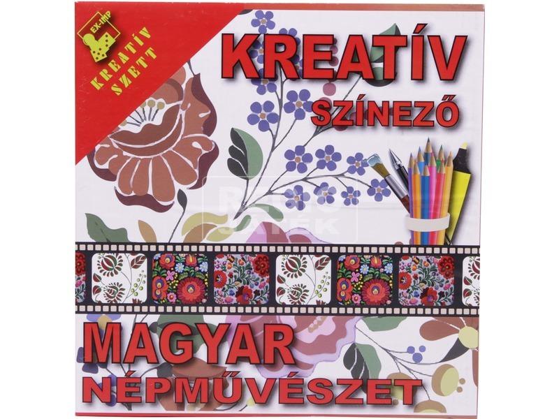 kép nagyítása Kreatív színező - Magyar népművészet