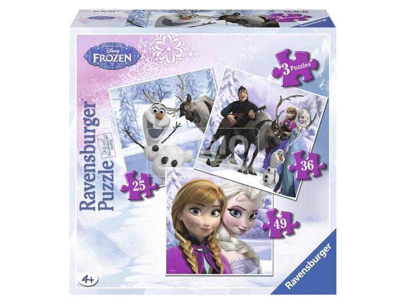 Jégvarázs Anna és Elsa barátai 3 az 1-ben puzzle