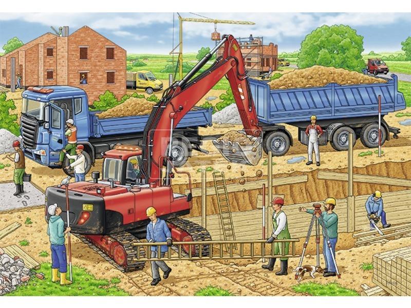 kép nagyítása Építkezés 2 x 12 darabos puzzle
