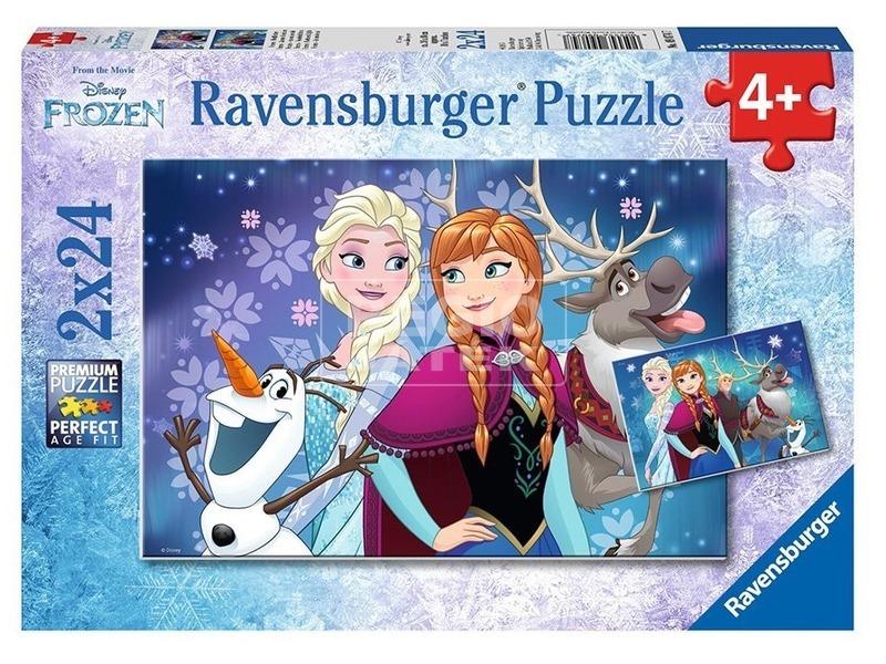 Jégvarázs északi fény 2 x 24 darabos puzzle
