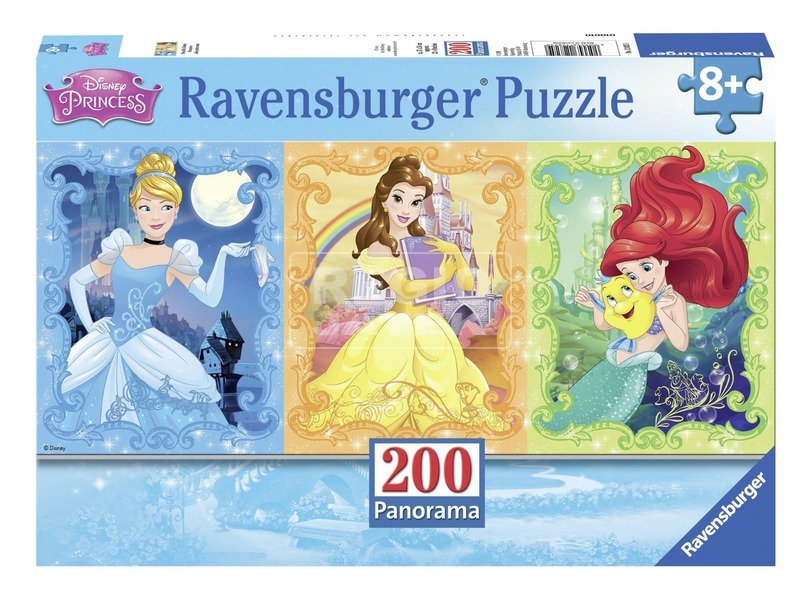 Disney hercegnők csodaszép 200 darabos panoráma puzzle