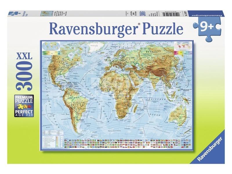Politikai világtérkép 300 darabos XXL puzzle