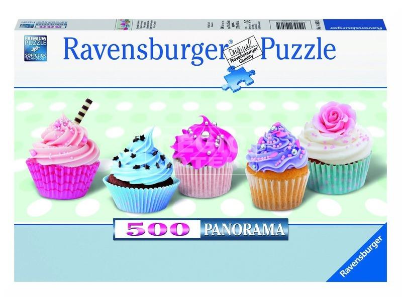 Édes sütemények 500 darabos panoráma puzzle