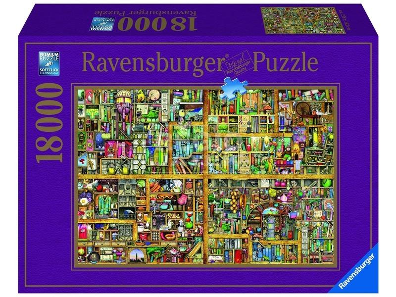 Varázslatos könyves szekrény 18 000 darabos puzzle
