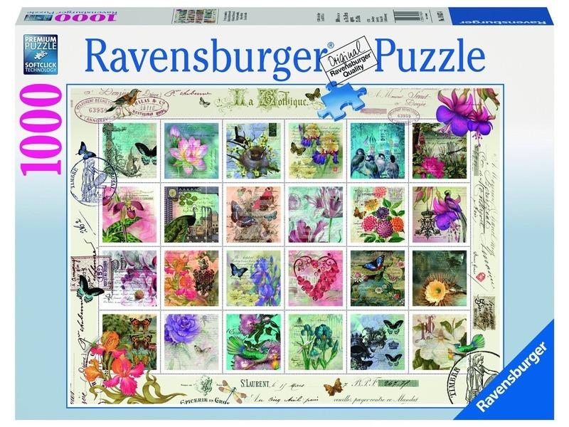 Bélyeggyűjtemény 1000 darabos puzzle