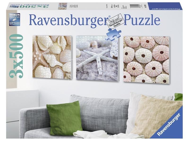 Tengerparti emlékek 3 x 500 darabos puzzle