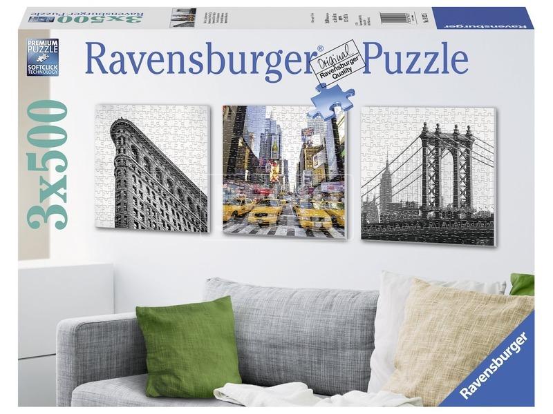 New York 3 x 500 darabos puzzle
