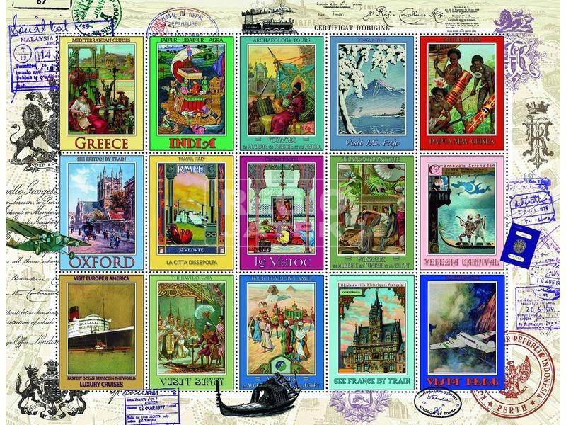 kép nagyítása Bélyeggyűjtemény 2000 darabos puzzle