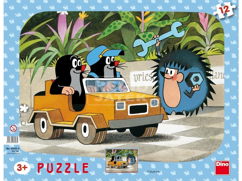 Kisvakond autója 12 darabos puzzle
