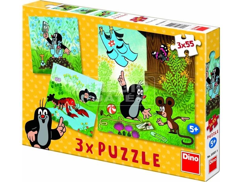 Kisvakond nadrágja 3 x 55 darabos puzzle