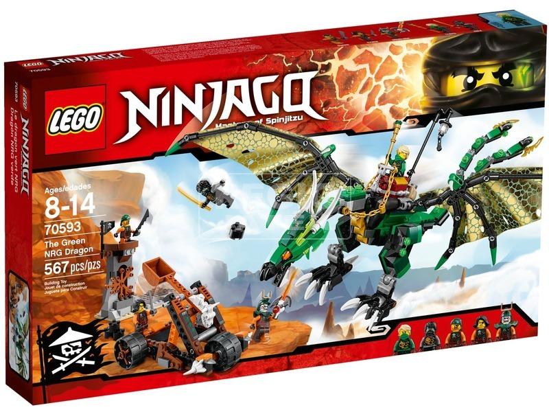 LEGO Ninjago A zöld NRG sárkány 70593