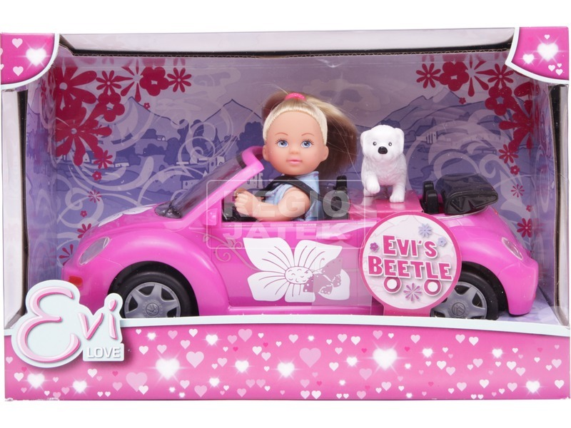EL Évi baba autóval VW Beetle +kiegészítő