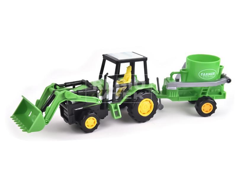kép nagyítása Lendkerekes traktor arató utánfutóval - 30 cm