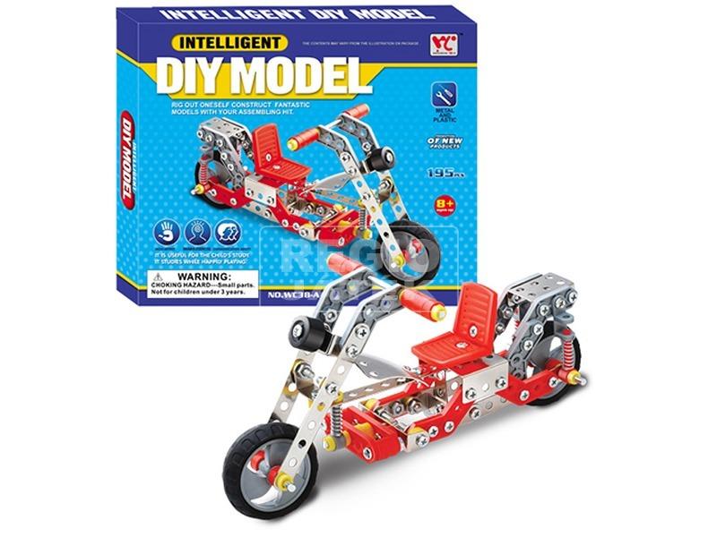 Motor 195 darabos fém építőjáték